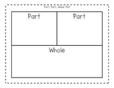 Part, Part, Whole Mat for Addition and Subtraction