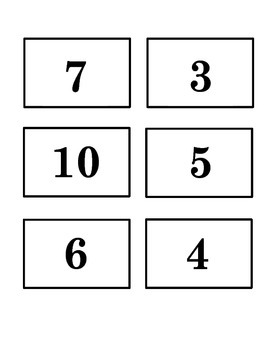 Part Part Whole Matching Game