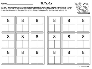 Part-Part-Whole Math Game Free Sample