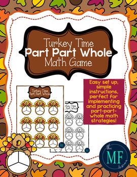 Part Part Whole Math Game-Turkey Time