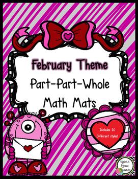 Part-Part-Whole Math Mats (February Theme)