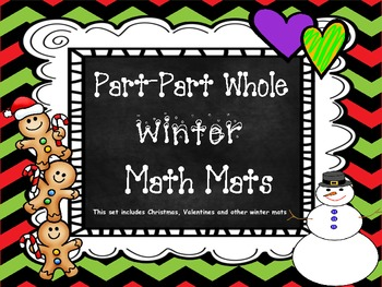 Part-Part-Whole Math Mats for Winter