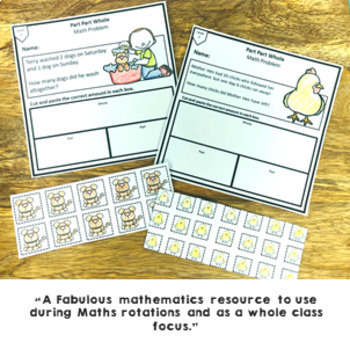 Part Part Whole Math Problem Solving Activity Pack 12 Differentiated Sheets