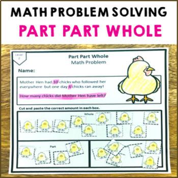 Part Part Whole Math Problem Solving Activity Pack 12 Shee
