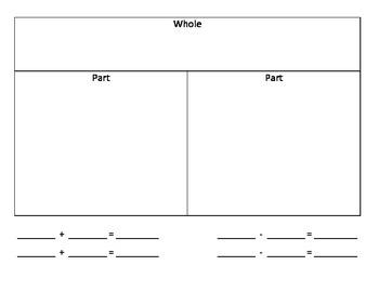 Part Part Whole Mats (Super Simple)