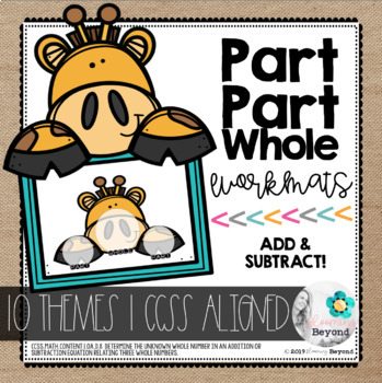 Part Part Whole Mats | Themed Workmats to Support Addition & Subtraction