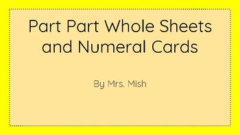 Part Part Whole Mats and Numeral Cards 0 -10