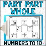 Part Part Whole & Missing Addend Worksheets to Build Number Sense KOA1 KOA3 KOA4