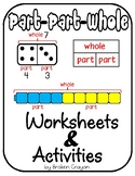 Part Part Whole, Missing Addend, Numbers 1-20 Activities a