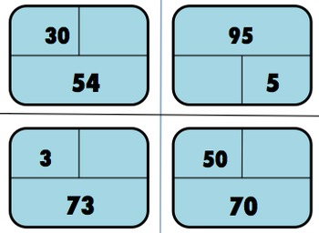 Part Part Whole:  Number Bond Flashcards (Differentiated)