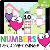 Part Part Whole Number Bonds 1-12: Decomposing Numbers Mat