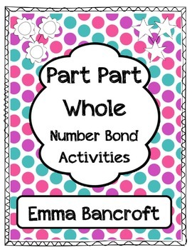 Part Part Whole Number Bonds Fact Families Worksheets