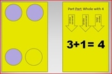 Part Part Whole Number Frames for Addition through Ten