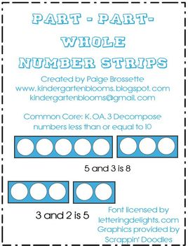 Part Part Whole Number Strips