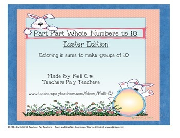 Part Part Whole Numbers to 10 for Easter