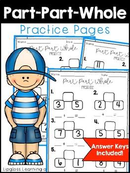 Part Part Whole Practice Pages