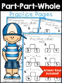 Part Part Whole Practice Pages For 1st and 2nd Grade