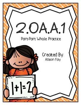 Part-Part Whole Practice Worksheets