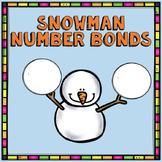 Snowman Themed Number Bonds