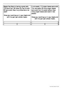 Part-Part-Whole Problem-Solving Sheet
