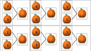 Part-Part-Whole Pumpkin Task Cards