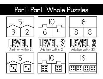 Part-Part-Whole Puzzles (Math Extensions - 1.OA.8)