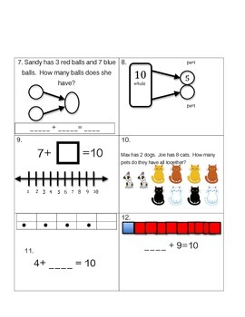 Addition Making 10-Part-Whole Scoot