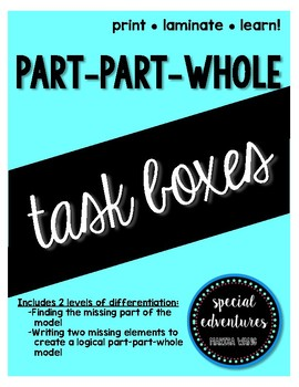 Part-Part-Whole Task Boxes