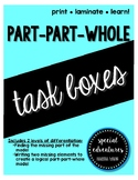 Part-Part-Whole Task Boxes