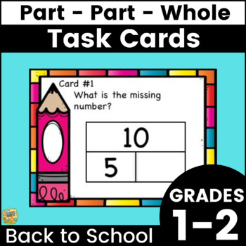 Part Part Whole Task Cards to 10 - Grades 1-2