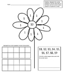Part-Part-Whole Ten Frame Flower Worksheet (11-19)