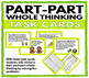 Part - Part Whole Thinking Task Cards for Numbers 1 -20 + Advanced Cards