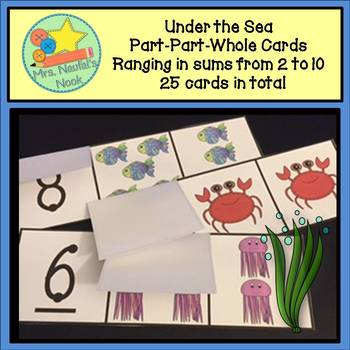 Part Part Whole Number Cards - Under the Sea Theme