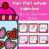 Part-Part-Whole Valentine Scoot/ Write the Room