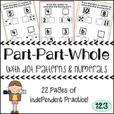 Part Part Whole Worksheets: Dot Patterns and Numerals {NO