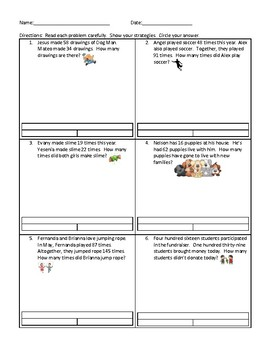 Solving Word Problems with Unknowns Part Part Whole Word Problems 2.7C