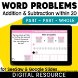 Part Part Whole Word Problems Addition & Subtraction withi