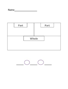 Part, Part, Whole Worksheet
