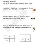 Part Part Whole Worksheet Packet