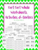 Part Part Whole Worksheets Activities and Centers