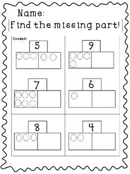 Part Part Whole Worksheets and Centers