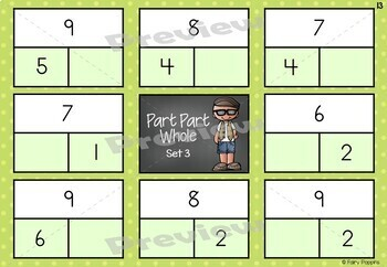 Part Part Whole and Fact Family - Activity Mats and Worksheets