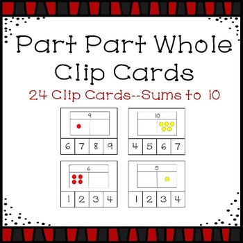 Part Part Whole to 10 Clip Cards