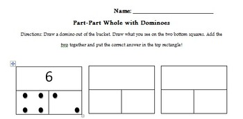 Part-Part Whole with Dominoes