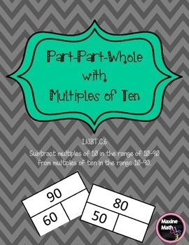 Part Part Whole with Multiples of Ten  1.NBT.C.6