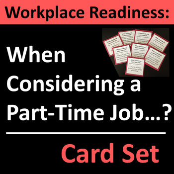 Part-Time Job Group Activity for Work Readiness Students