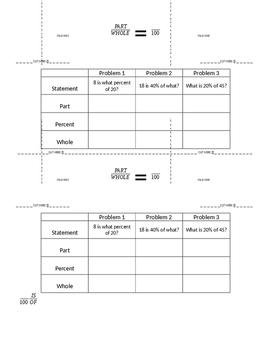 Part-Whole-Percent Foldable