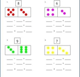 Part-Whole Worksheet for Writing Addition and Subtraction Sentences