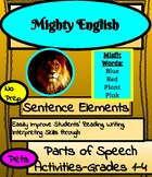 Mighty English--Sentence Elements: Parts of Speech Activit