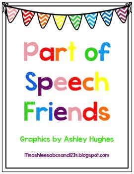Part of Speech Friends Posters